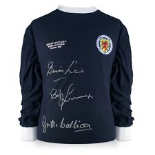 More details for scotland shirt signed by denis law, bobby lennox and jim mccalliog   jersey