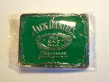 Brand New Belt Buckle .Jack Daniels , Chrome & Green