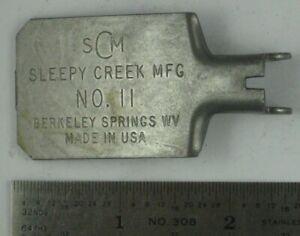 Sleepy Creek Trap #11 Pan.#11 Trap Pan,New Square  style.  B389