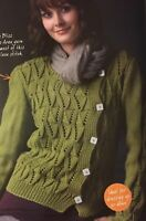 KNITTING PATTERN Ladies Lace Stitch Cardigan Off Centre Fastening Debbie Bliss