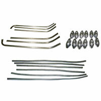 HQ-Vespa Scooter New Footboard / Floor Runner Aluminum Strips Rubber End Set