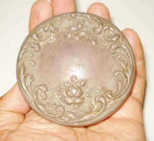 ART NOUVEAU FOSTER BAILEY STERLING SILVER LID VICTORIAN FLOWERY DESIGN 24 GRMS