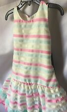 Isobella and Chloe Girls Ribbons And Ruffles Drop Waist Party Dress Size 5 -New