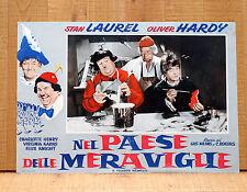 NEL PAESE DELLE MERAVIGLIE fotobusta poster Stanlio e Ollio Laurel Hardy BH27