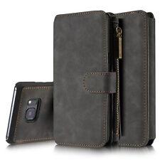 Handyhülle Für iPhone X Xr Xs Max Samsung Galaxy S8 S9 Geldbörse Wallet Bag DECC
