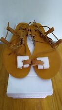 Feud Lace Up Gladiator Style Sandal in Tan size 4 women shoe sandal brand new