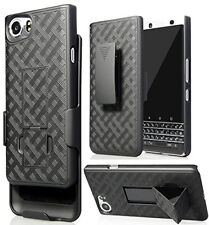 BlackBerry KEYone Belt Clip Shell Holster  Kickstand Criss Cross Plaid Design