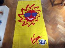 Brand New Virgin Sun Beach Towel & Lapel Badge