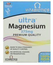 Vitabiotics Ultra magnesio 375 MG. la liberación de energía, el sistema nervioso & Huesos Fuertes
