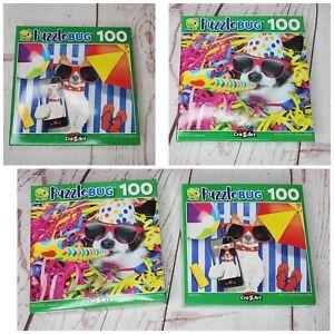 Puzzlebug 100 Piece Puzzle Party Poochie & Beachy Pooch Bundle