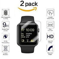 2 PACKS For Apple Watch ( Series 3 ) 38mm/42mm Tempered Glass Screen Protector