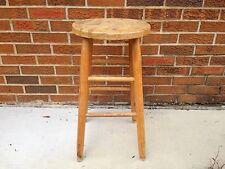 Vintage 24 inch Oak stool