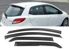 2011-2013 Mazda 2 5D HIC Tape On Window Rain Guard Visors Tinted 4 Pieces