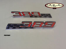 65-66 389 PONTIAC GTO LEMANS GRAND PRIX BONNEVILLE CATALINA EMBLEM W/FLAG PAIR