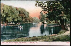 BOILING SPRINGS PARK PA Lake Canoe Vintage Mechanicsburg Postcard Early Old PC