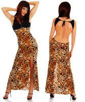 Sexy Women Clubbing Leo Dress Open Slit Backless Slinky Maxi Size 6 8 10 12 Top