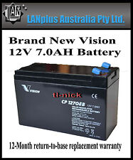Vision Cp1270eb 12v 7ah Rechargeable SLA Battery UPS Alarm Toy NBN CP1270