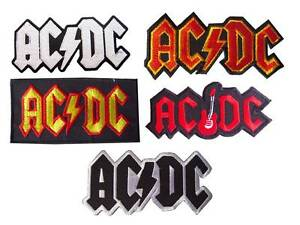 5 AC/DC Logo Heavy Metal Rock Band embroidered iron on patches. set5