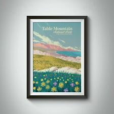 More details for table mountain national park south africa travel poster - bucket list prints