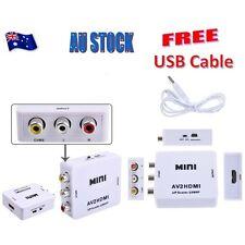 Mini AV2HDMI Composite CVBS 3RCA to HDMI Video Converter Adapter 720P 1080P