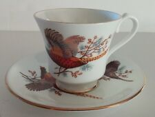 Pheasant Cup & Saucer Set   Bone China  Made in England