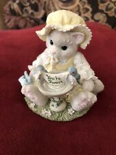 "Enesco Calico Kittens figurine ""A little bird told me your tweet"" 1996"