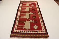 Nomaden Picasso Look Kelim Unikat Perser Teppich Orientteppich 2,80 X 1,25