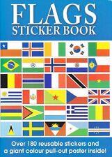 Niños WORLD COUNTRY Banderas Pegatinas Libro De Actividades Gigante extraer