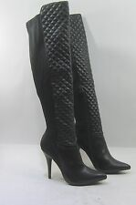 "new Black 4.5""Stiletto High Heel Pointy Toe Sexy Stretch Knee Boots Size 7.5"