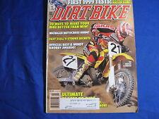 DIRT BIKE magazine-OCT 1998-KTM125SX-YAM YZ125-DB HALL OF FAME-KNOBBY AWARDS