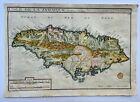 JAMAICA CARIBBEAN 1704 NICOLAS DE FER UNUSUAL ANTIQUE MAP 18TH CENTURY