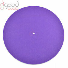 Quality Purple Coloured Felt Turntable Platter Mat, Record Hi-Fi Fit P1,P2,P3,P5