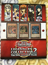 YUGIOH LEGENDARY COLLECTION 2 FOLDER / BINDER, 18 INSERTS AND PROMO CARDS
