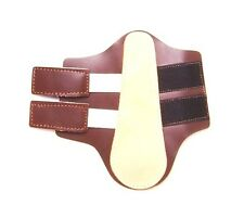 Tough 1 easy on brown leather splint boots horse tack equine 66-5244