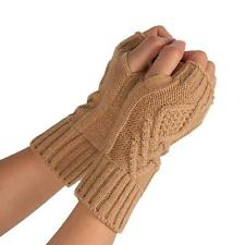 Unisex Men Women Knitted Fingerless Winter Gloves Soft Warm Mitten Solid Arm  Z1