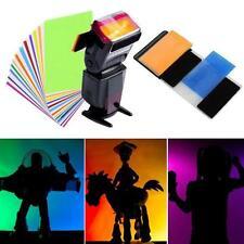 12PCS Useul Flash Color Diffuser Speedlite Lighting Gels Filter Kit for Camera