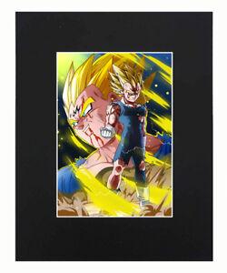 Dragon Ball Super Z Majin Vegeta Print Picture Mini Poster Matted 8x10