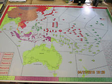 """Victory in the Pacific War at Sea- New Map - 89.91"""" L x 61.33"""" H; on CD"""