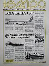 4/1976 PUB TEMPAIR AIRLINES AIR NIUGINI BOEING 720B AIRLINER DETA BOEING 707 AD