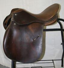 "USED Crosby Corinthian Spring Seat Cutback English Saddle - 17"" seat"