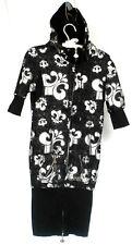 Dereon Women's Black with Silver Fleur De Lis Pattern Hoodie Dress Size S