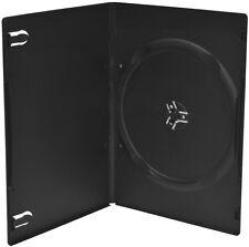 100 DVD Hüllen Slim 1er Box 7 mm für je 1 BD / CD / DVD schwarz