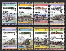 Bequia of (St Vincent) 1984 Railways MNH speciman set