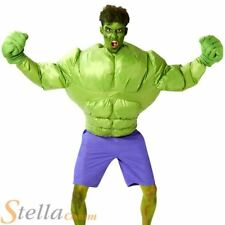 Adult Inflatable Incredible Hulk Costume Mens Comic Superhero Fancy Dress Outfit