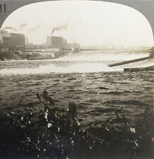 Keystone Stereoview Falls of St. Anthony & Flour Mill, Mn From Rare Usa 100 Set