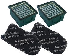 2 Hepafilter + 2 Geruchsfilter Filter geeignet Vorwerk Kobold VK 130 131