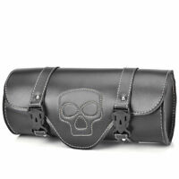 Motorcycle Saddlebag Side Bag PU Leather Tool Barrel Motorbike For Harley BK