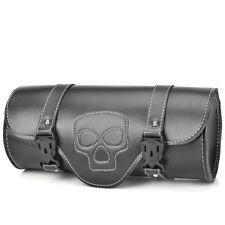 Motorcycle Saddlebag Side Bag PU Leather Tool Bags Pannier Motorbike For Harley
