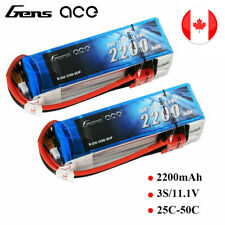 2X 2200mAh 11.1V 25C 3S Lipo Battery Deans Plug For RC Helicopter DJI Quadcopter