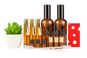 Pump Sprays Roller Bottles Drippers Oil Key Pipette sizes 2ml – 100ml 17 Bottles